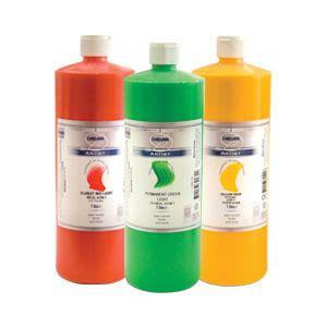 acrylic paint jugs derivan artists acrylic paint 1 litre bottles
