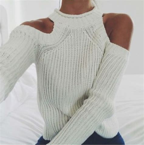how to cut knitted sweaters sweater knitted sweater white sweater cut out cut out