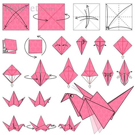 how to do origami bird step by step origami flapping bird origami and origami on
