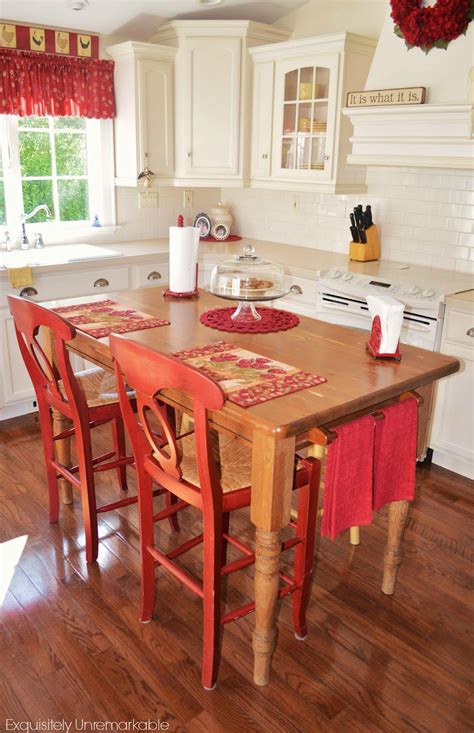 farm table kitchen island turn your kitchen table into a farmhouse island exquisitely unremarkable