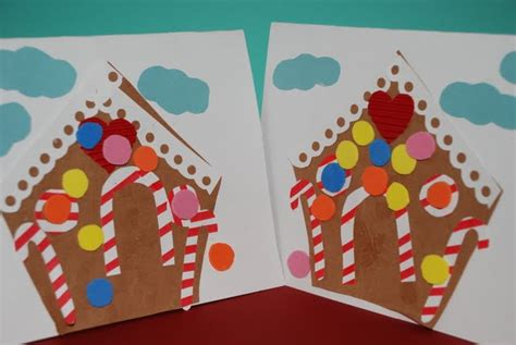 Craft Gingerbread House Greeting Card On As We Grow