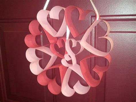 paper hearts craft paper wreath craft ideas