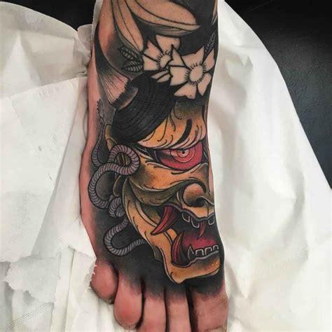 hannya foot tattoo best tattoo ideas gallery