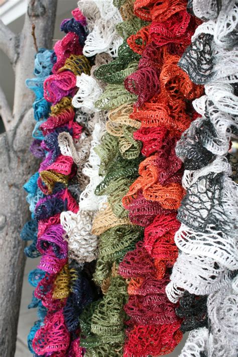 how to knit a ruffle scarf ruffle scarf on loom knitting patterns loom