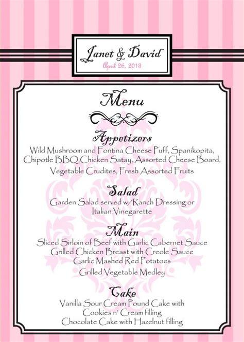 how to make menu card menu cards for buffet weddingbee