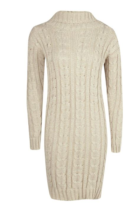 cable knit jumper boohoo womens lottie cable knit jumper dress ebay