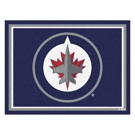 home depot paint winnipeg fanmats nhl winnipeg jets navy blue 8 ft x 10 ft indoor