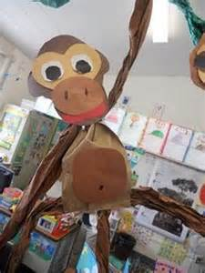 paper bag monkey craft paper bag crafts on paper bags paper bag