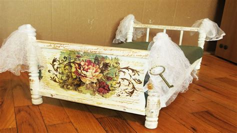 decoupage bed how to decoupage a bed cat bed from dolls bed