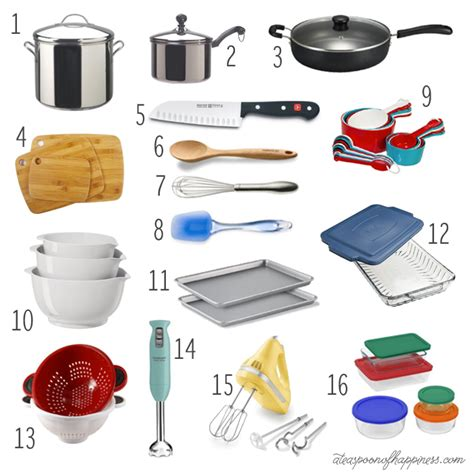 kitchen must haves list kitchen basics my must list a teaspoon of happiness