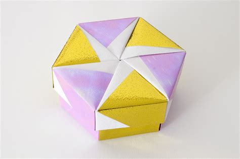 paper box origami with lid hexagonal origami box with lid 10 flickr photo