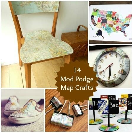 map crafts for 14 mod podge map crafts crafty ideas