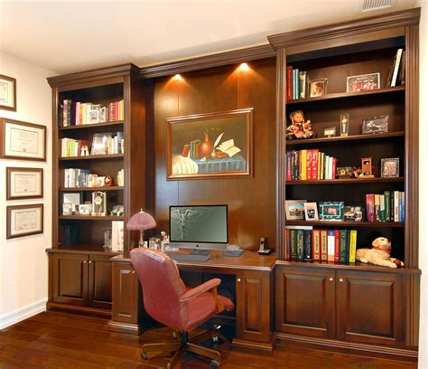 home office desk units custom bookcases orlando wood shelving wooden wall