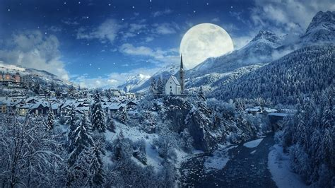 Car Wallpaper With Android Moon by Winter Moon Wallpaper Wallpaper Studio 10 Tens Of