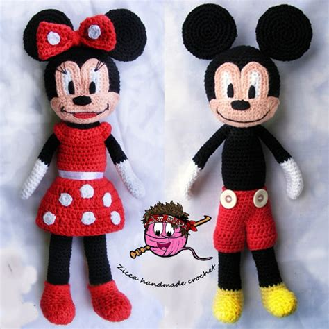 minnie mouse doll knitting pattern cochet mickey mouse and minnie mouse doll pattern