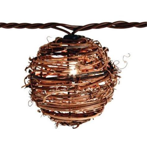 wicker string lights 10 light clear rattan string light set