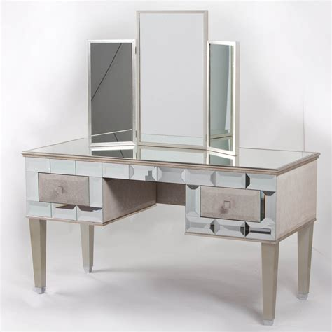 desk with mirror mirrored vanity desk home furniture design