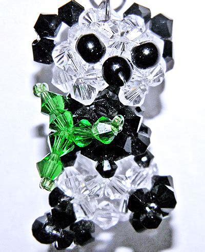 beaded panda beaded 3d panda pattern by jax