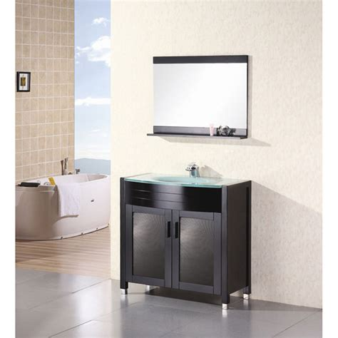 waterfall bathroom vanity design element waterfall 36 quot bathroom vanity espresso