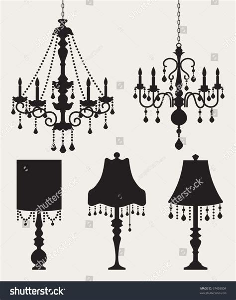 italian chandelier illustration vector illustration chandeliers table ls stock vector