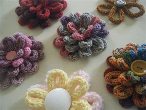 spool knitting patterns beautiful knitting flowers loom knitting