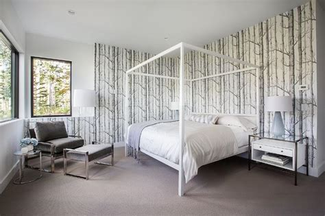 white framed beds white and gray bedroom with white canopy bed and glass