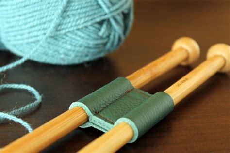 knitting handmade diy leather knitting needle holder the crafty gentleman