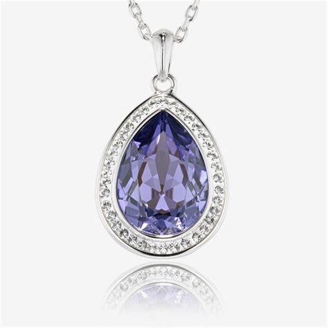 make swarovski jewelry violetta necklace made with swarovski 174 crystals