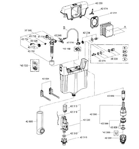 Villeroy And Boch Toilet Cistern Spare Parts by Grohe Wc Concealed Cistern 38661 Spare Parts