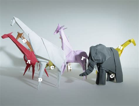 origami zoo animals i ate what i am six giraffes a an elephant