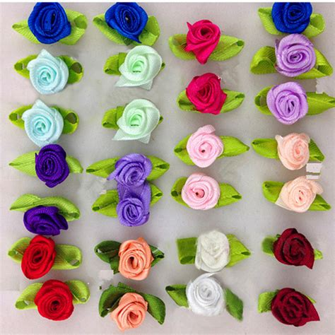 small crafts for aliexpress buy diy satin ribbon roses flower