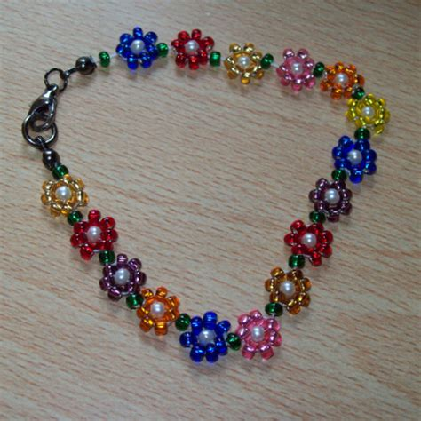 flower bead bracelet pattern abir commented on the tutorial projects beaded flower
