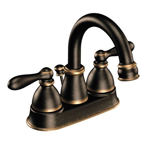 kitchen sink faucets at lowes moen ca84667 caldwell 2 handle 4 in centerset watersense