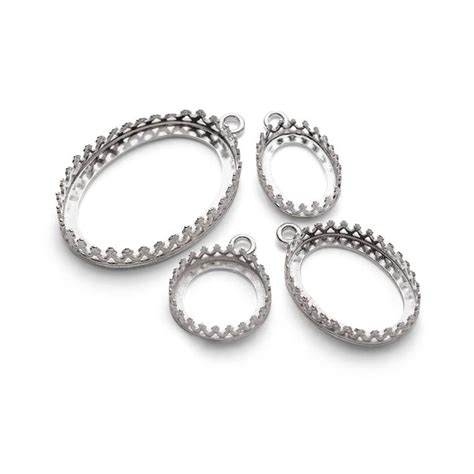 jewelry settings sterling silver gallery wire pendant settings