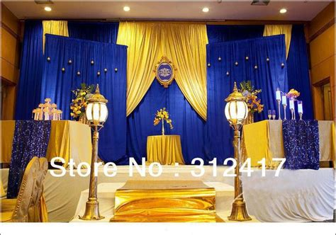 blue and gold decorations top selling customized royal blue and gold backdrop for