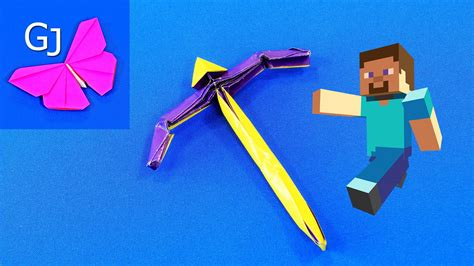origami minecraft pickaxe how to make a paper pickaxe origami minecraft