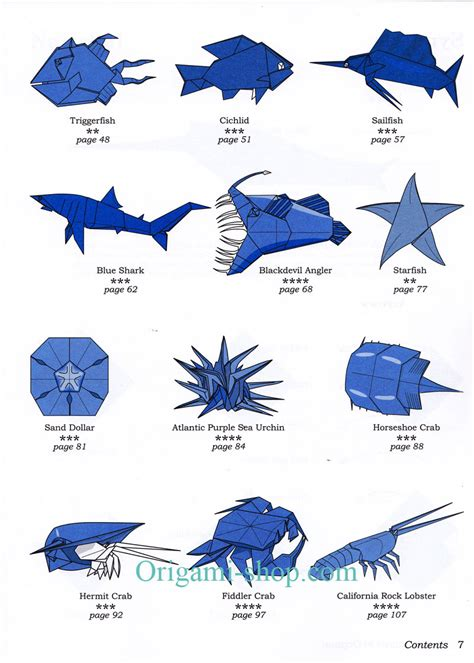 origami sea creatures easy origami sea animals comot