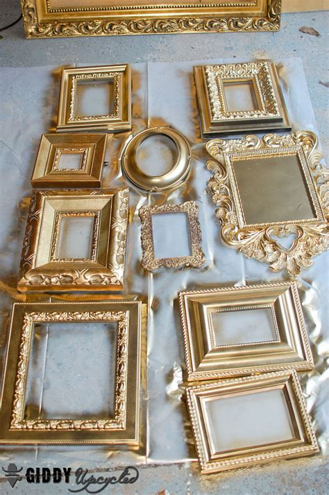 spray painting frames hometalk vintage frames spray painted white for gallery wall