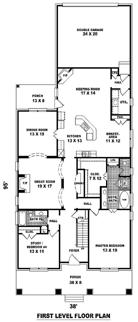 17 best ideas about narrow lot house plans on narrow house plans house floor