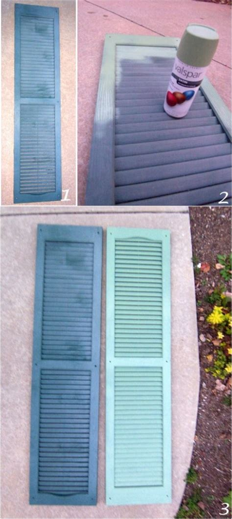 spray paint vinyl shutters diy project painting your shutters going home to roost