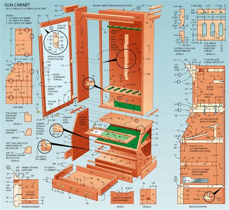 woodworking cabinet plans pdf plans free gun cabinet designs
