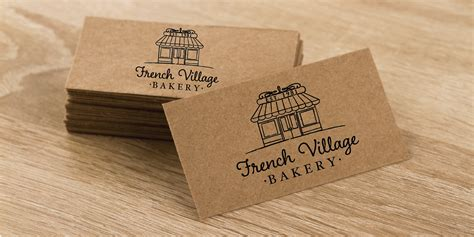 printing on craft paper brown kraft paper business cards