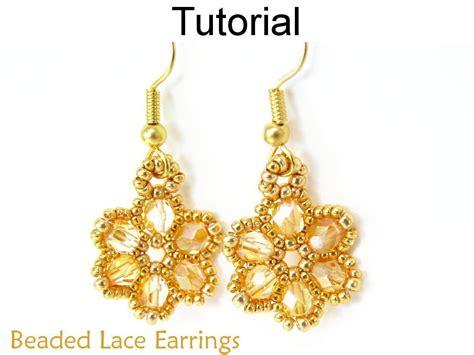 beaded flower earring patterns beaded lace earrings pattern 270 by simplebpatterns craftsy