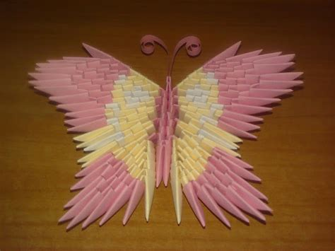 3d origami butterfly origami butterfly 3d easy craft idea