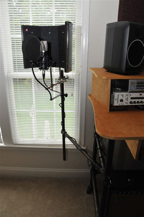 mic desk stand rolling recording desk with microphone stand