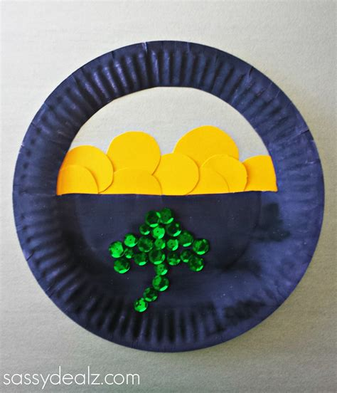 craft paper plate paper plate pot of gold craft for st s day