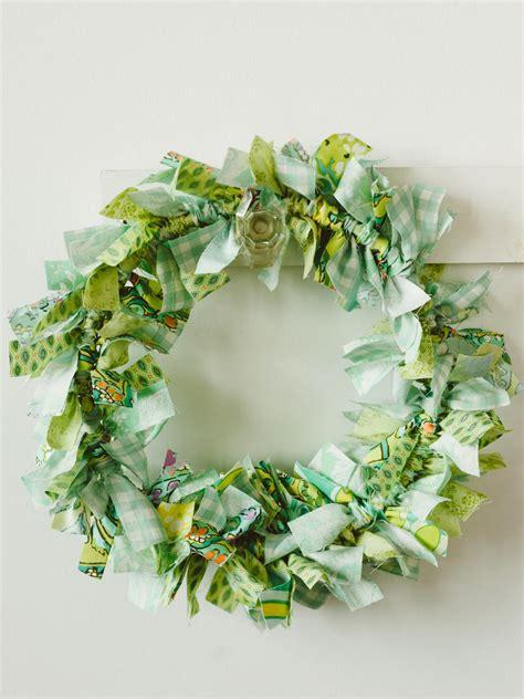 wreath craft for craft make an easy rag wreath hgtv