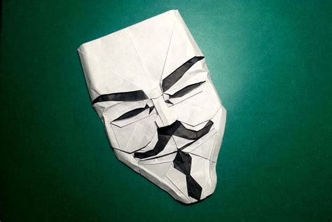 origami fawkes mask i can hardly mask my excitement about this origami
