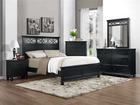 bed bedroom sets homelegance sanibel bedroom set black b2119bk bed set at