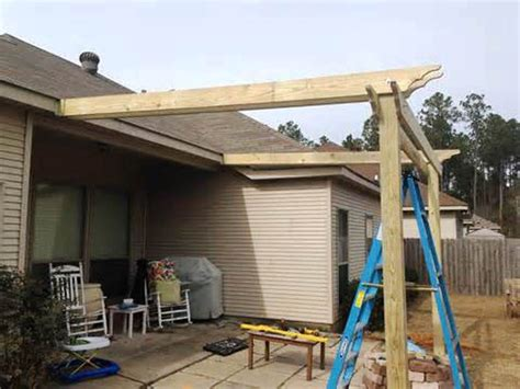 diy pergola plans attached to house house best